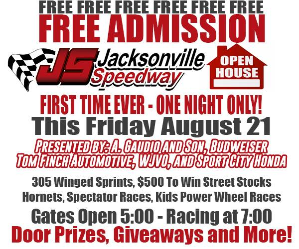 free admission night | Jacksonville Speedway Official Site ...